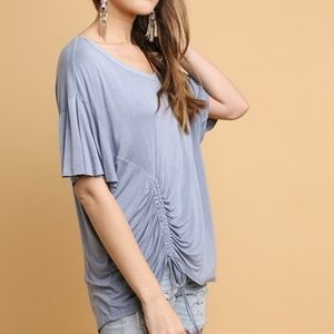 Grey side tie tunic